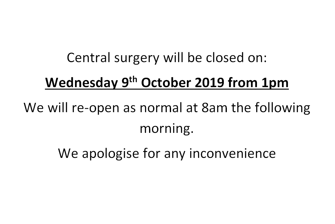 Closed for staff training - 9/10/19